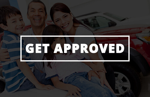 Get approved button to fill out a credit application